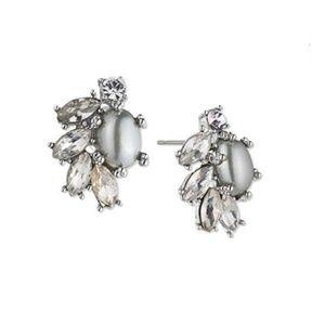 Marchesa Crystal and Imitation Pearl Stud Earrings